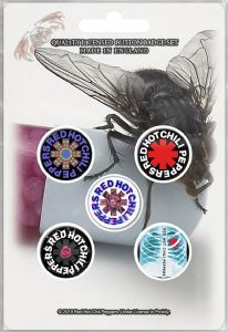 Red Hot Chili Peppers 5 Pin Badges in Pack Version 2 (rz)